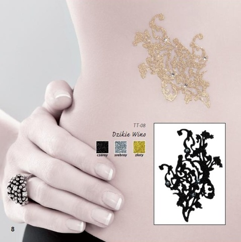 Samolepící tetování TT-08 - Stříbrná/uni