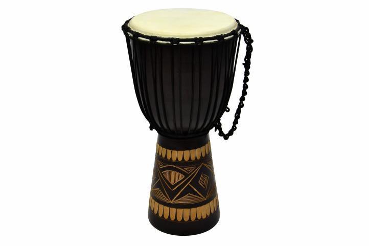 Africký buben Djembe, 50 cm - ručně řezaný