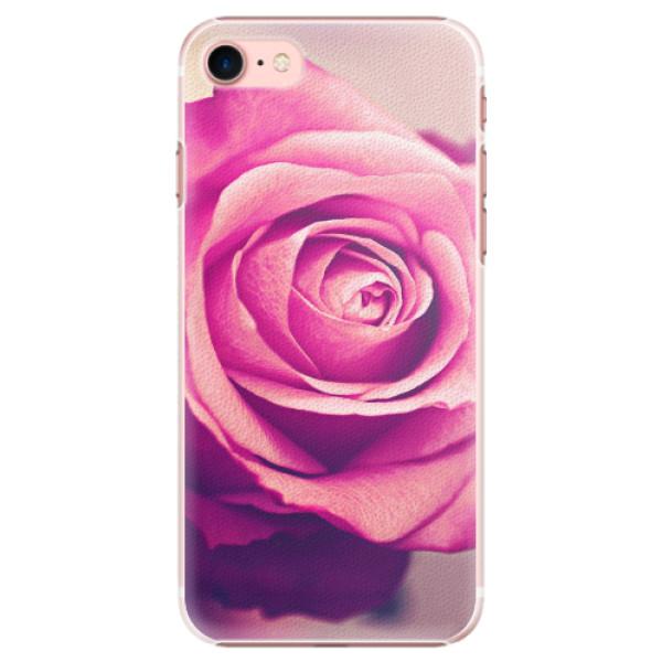 Plastové pouzdro iSaprio - Pink Rose - iPhone 7