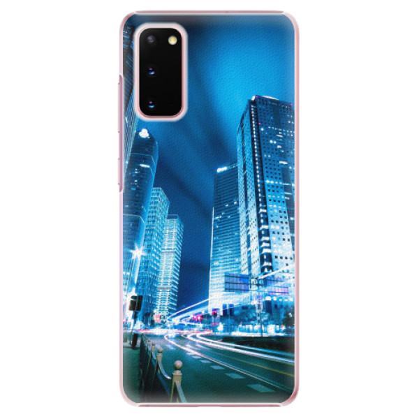 Plastové pouzdro iSaprio - Night City Blue - Samsung Galaxy S20