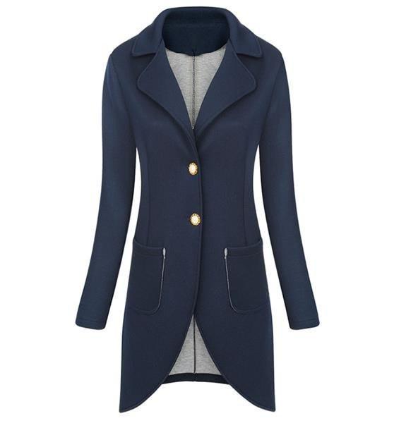 Tmavě modré sako/přehoz přes oblečení s koflíky (2603) - Tmavěmodrá/ONE SIZE