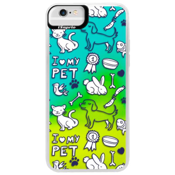Neonové pouzdro Blue iSaprio - Love my pets - iPhone 6 Plus/6S Plus