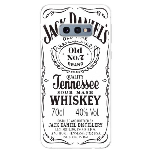 Odolné silikonové pouzdro iSaprio - Jack White - Samsung Galaxy S10e