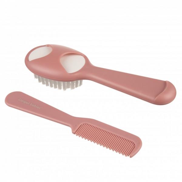 Hřebínek s kartáčkem na vlasy, Canpol Babies - růžový