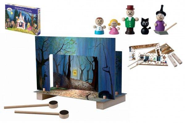 Magnetické divadlo Perníková chaloupka dřevo v krabici
