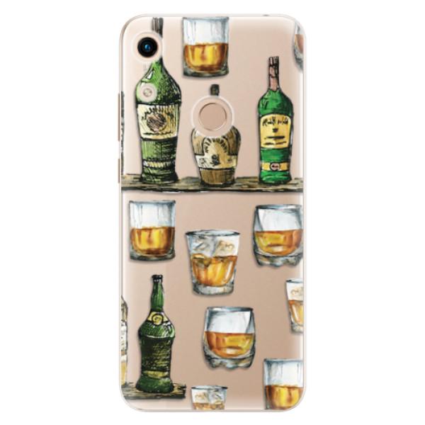 Odolné silikonové pouzdro iSaprio - Whisky pattern - Huawei Honor 8A