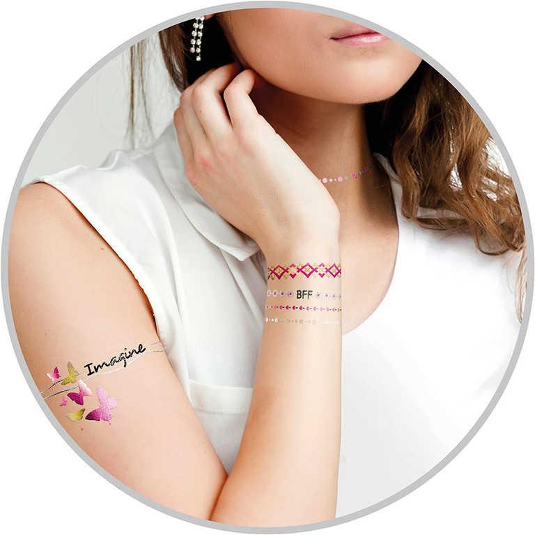 Tetování metalické holčičí různé druhy v sáčku