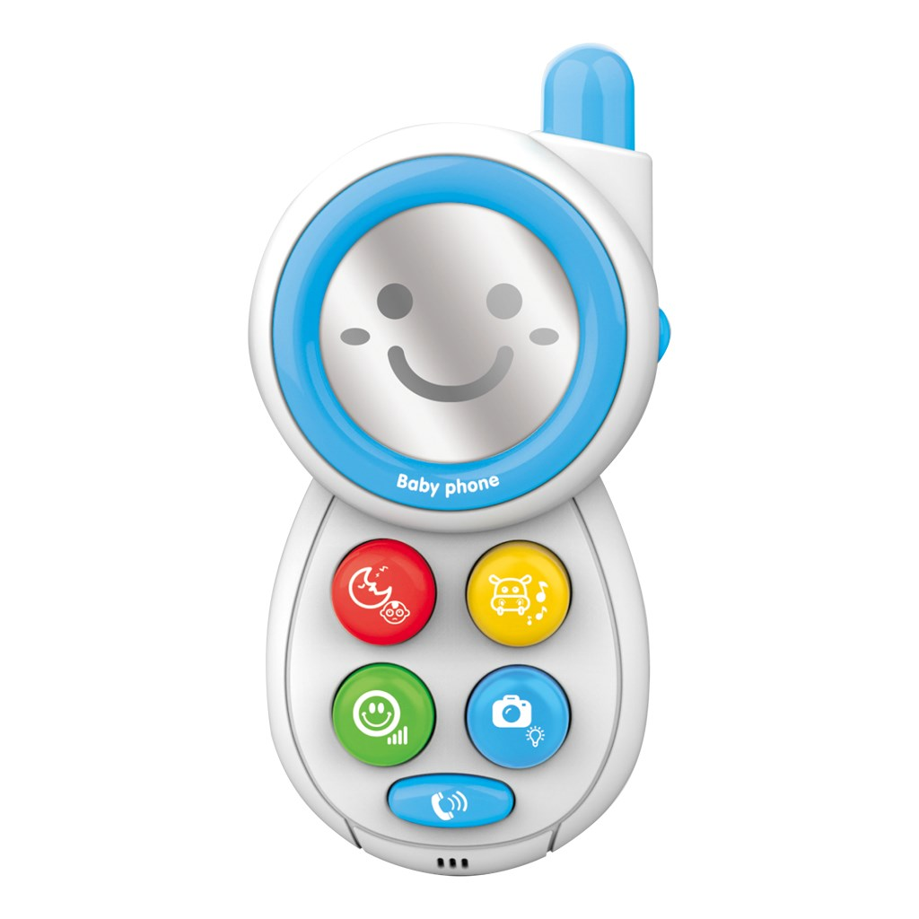 Dětský telefónek se zvuky BAYO - blue - modrá