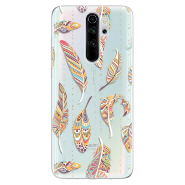 Odolné silikonové pouzdro iSaprio - Feather pattern 02 - Xiaomi Redmi Note 8 Pro