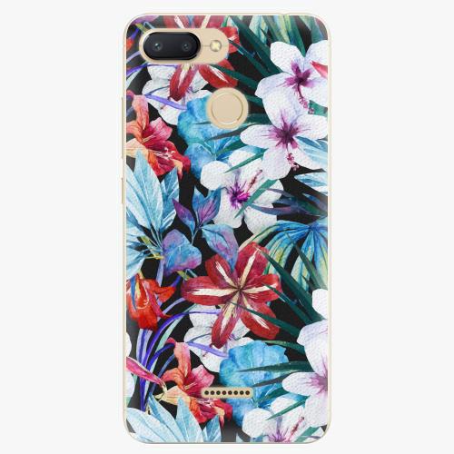 Silikonové pouzdro iSaprio - Tropical Flowers 05 - Xiaomi Redmi 6