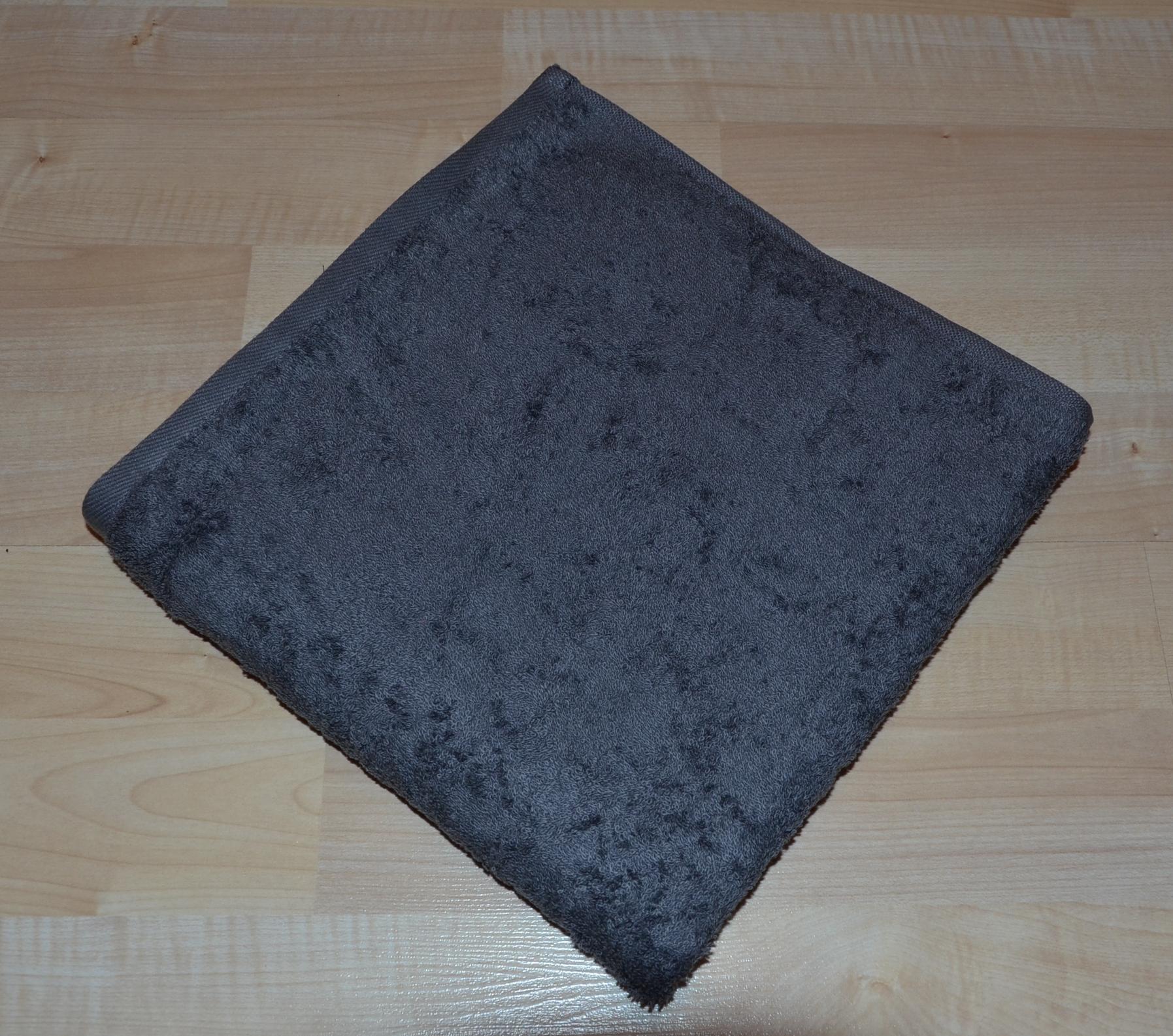 Froté ručník 50x100cm bez proužku 450g tmavě šedý