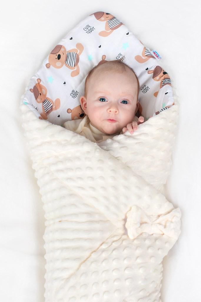 Oboustranná zavinovačka z Minky New Baby 75x75 cm obláček