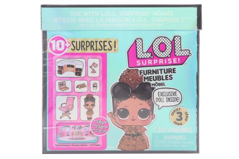 L.O.L. Surprise! Nábytek s panenkou - Ředitelna & Boss Queen TV