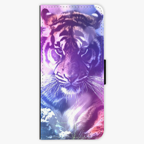 Flipové pouzdro iSaprio - Purple Tiger - Samsung Galaxy J3