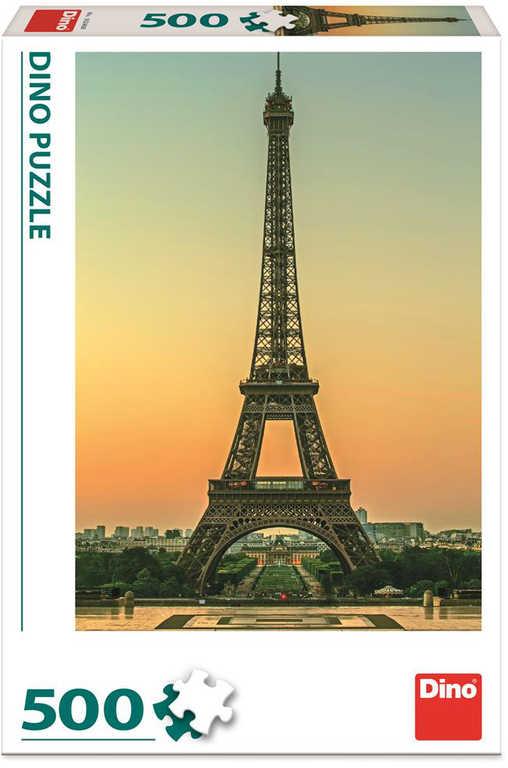 DINO Puzzle Eiffelovka za soumraku foto 500 dílků 33x47cm skládačka v krabici