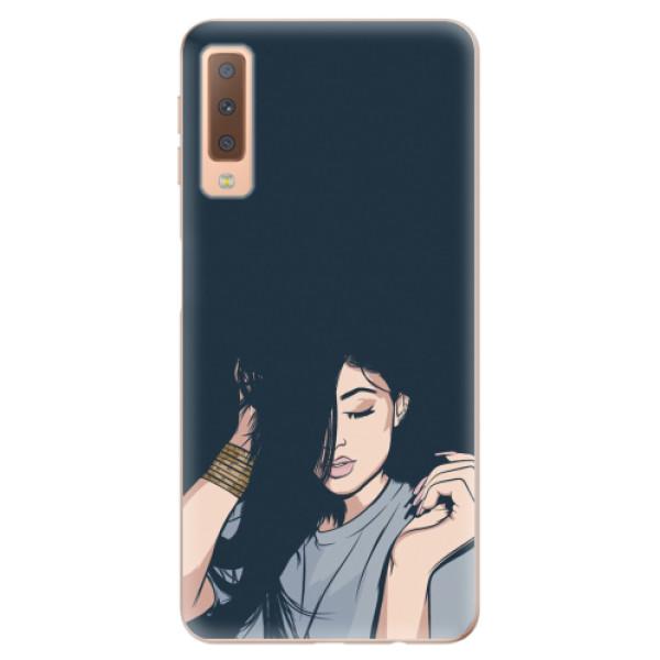 Odolné silikonové pouzdro iSaprio - Swag Girl - Samsung Galaxy A7 (2018)