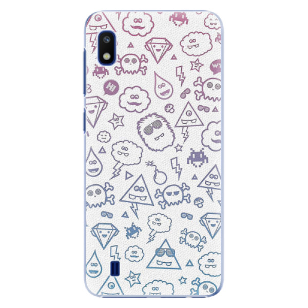 Plastové pouzdro iSaprio - Funny Clouds - Samsung Galaxy A10