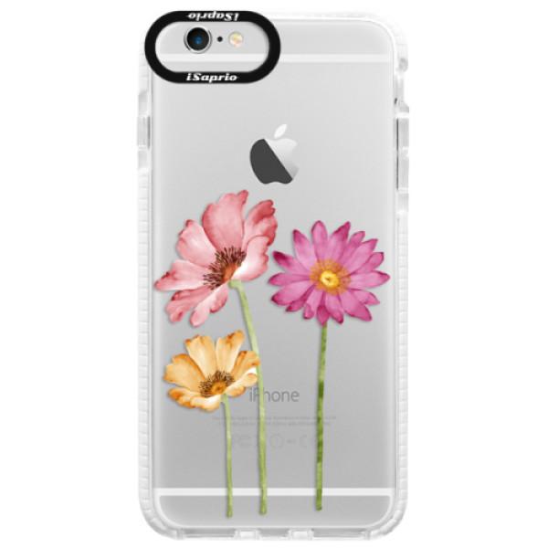 Silikonové pouzdro Bumper iSaprio - Three Flowers - iPhone 6/6S
