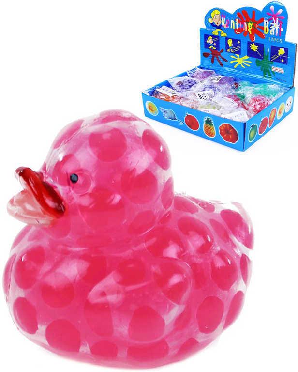 Kačenka antistresová měkký mačkací míček s kuličkami 5 barev