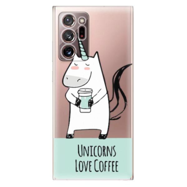 Odolné silikonové pouzdro iSaprio - Unicorns Love Coffee - Samsung Galaxy Note 20 Ultra