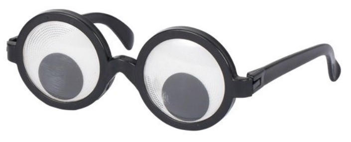 Goki Zábavné párty brýle s pohyblivou čočkou