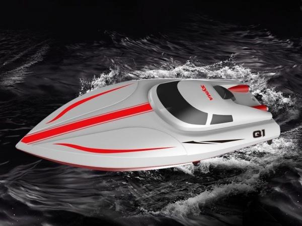 SYMA Speed Boat Q1 PIONEER 2.4GHz až 25km/h Nejvyšší řada, plně plynulé ovládání!