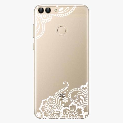 Silikonové pouzdro iSaprio - White Lace 02 - Huawei P Smart