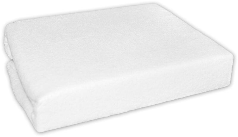 Froté prostěradlo - Bílé - 120x60