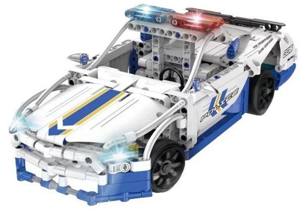 POLICEJNÍ AUTO - stavebnice na dálkové ovládání