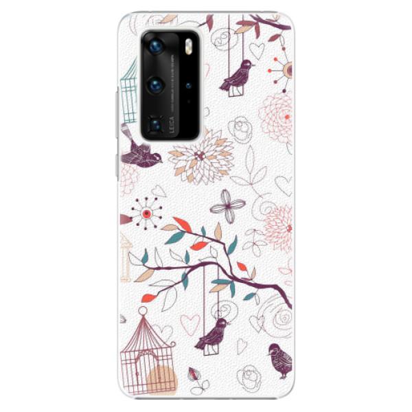 Plastové pouzdro iSaprio - Birds - Huawei P40 Pro
