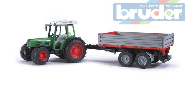 BRUDER 02104 (2104) Traktor FENDT Farmer + sklapěcí vůz