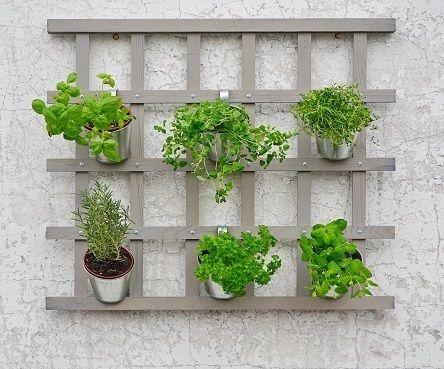 Květináče na bylinky, závěsný systém