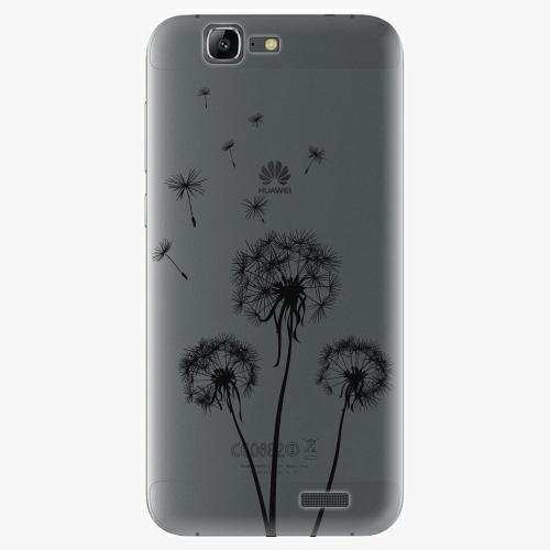 Plastový kryt iSaprio - Three Dandelions - black - Huawei Ascend G7
