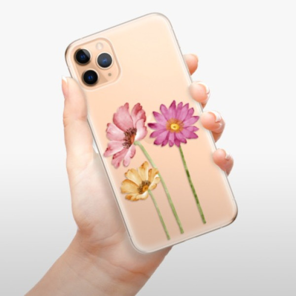 Odolné silikonové pouzdro iSaprio - Three Flowers - iPhone 11 Pro Max
