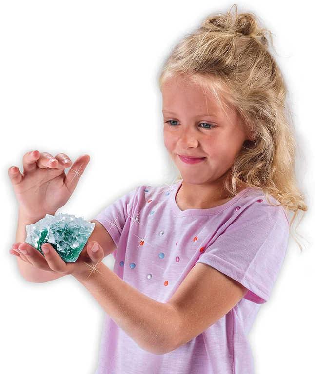 SES CREATIVE Rostoucí krystaly a drahokamy experimentální set v krabici