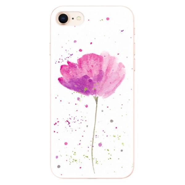 Odolné silikonové pouzdro iSaprio - Poppies - iPhone 8