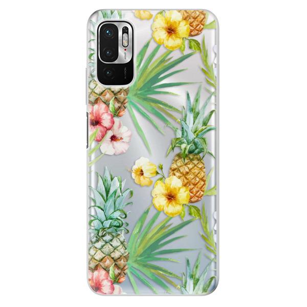 Odolné silikonové pouzdro iSaprio - Pineapple Pattern 02 - Xiaomi Redmi Note 10 5G