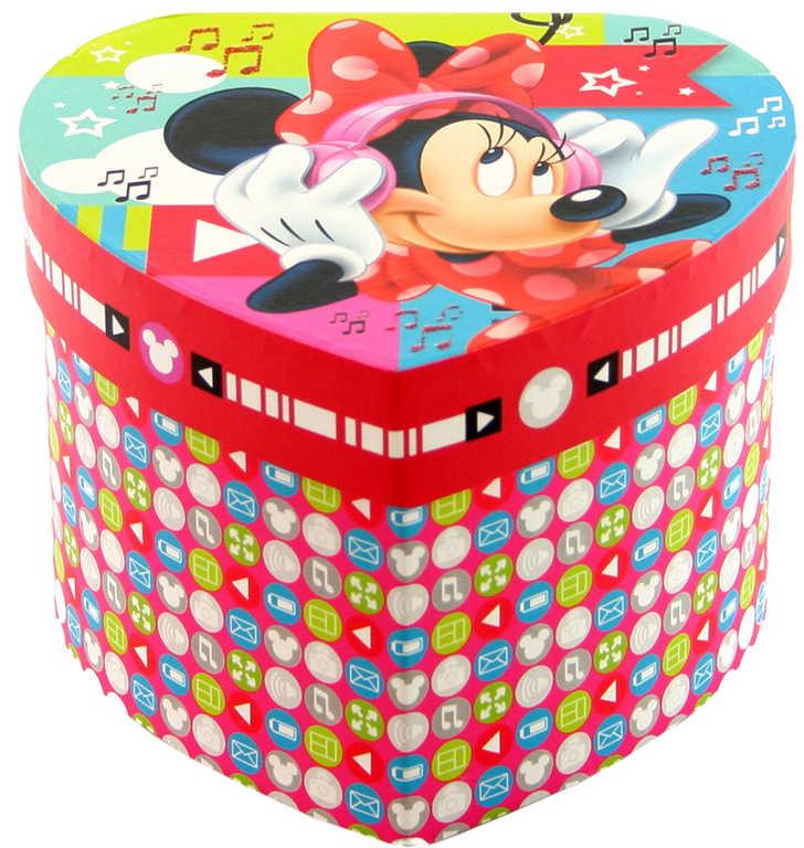Šperkovnice dětská Disney Minnie Mouse srdce se zrcátkem karton