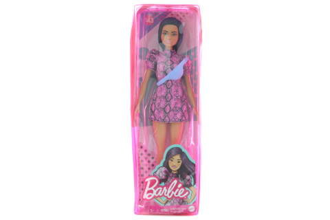 Barbie Modelka - šaty se vzorem hadí kůže GXY99