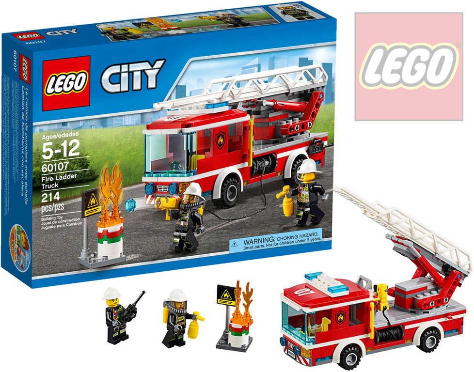 LEGO CITY Hasičské auto s žebříkem 60107 STAVEBNICE