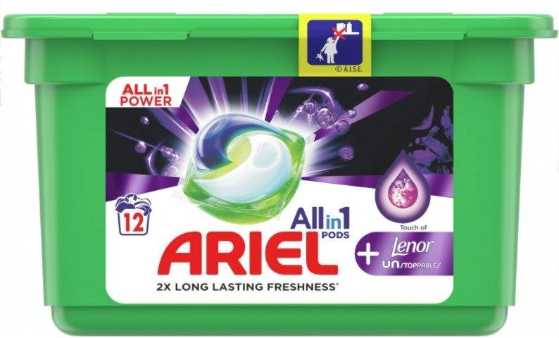 Ariel +Lenor Unstoppables kapsle na praní, 12 praní