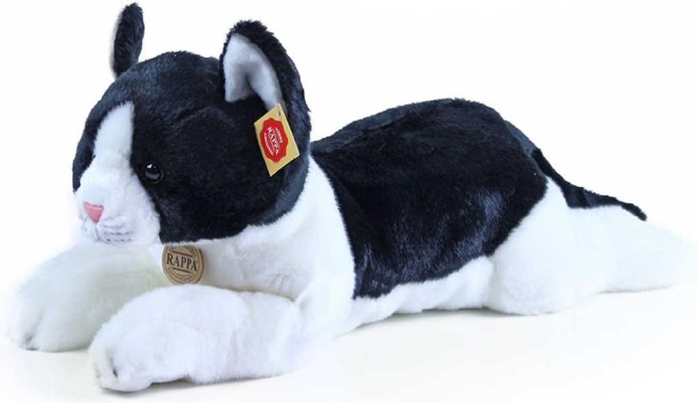 PLYŠ Kočka ležící černobílá exkluzivní kolekce *PLYŠOVÉ HRAČKY*