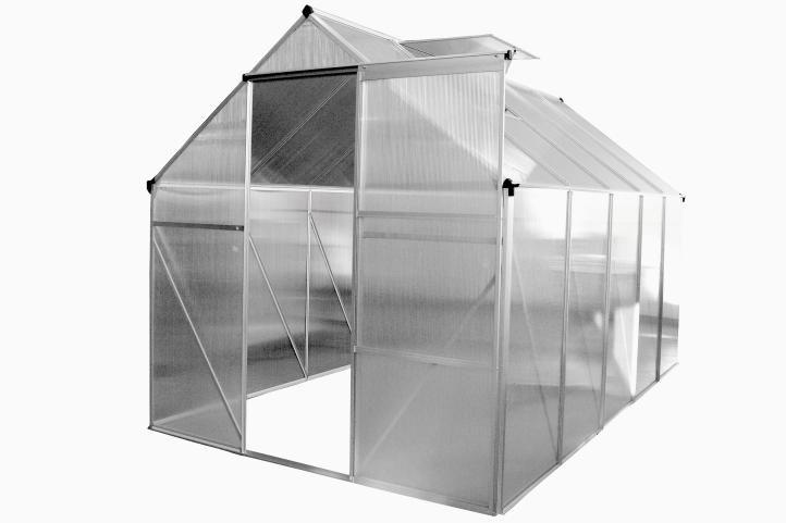 Skleník Garthen 250 x 190 cm - 4,75 m2 + okno, otvírač oken