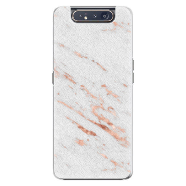 Plastové pouzdro iSaprio - Rose Gold Marble - Samsung Galaxy A80