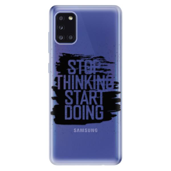 Odolné silikonové pouzdro iSaprio - Start Doing - black - Samsung Galaxy A31