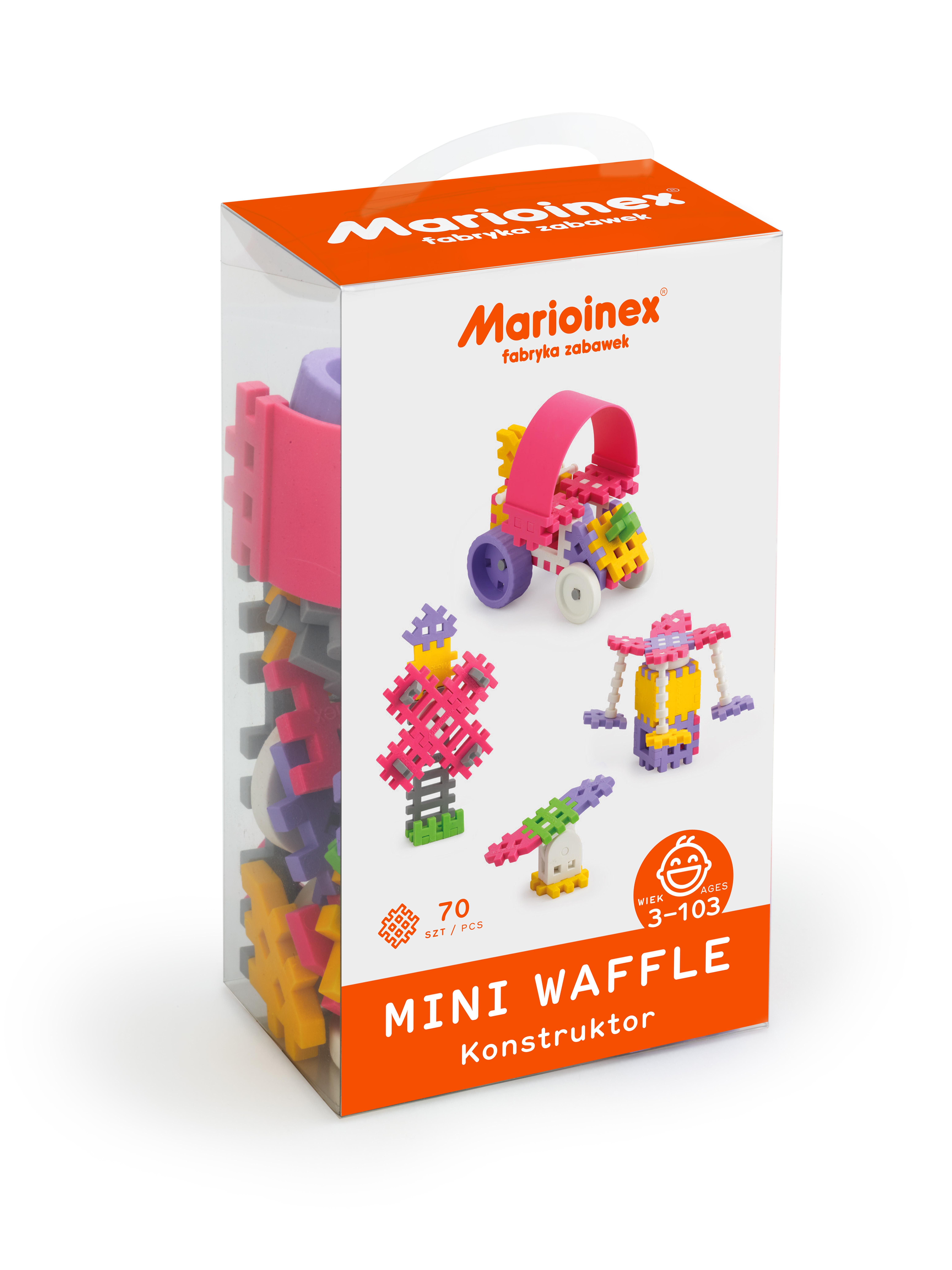 Marioinex MINI WAFLE – 70 ks Konstruktér (dívky)
