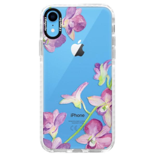 Silikonové pouzdro Bumper iSaprio - Purple Orchid - iPhone XR