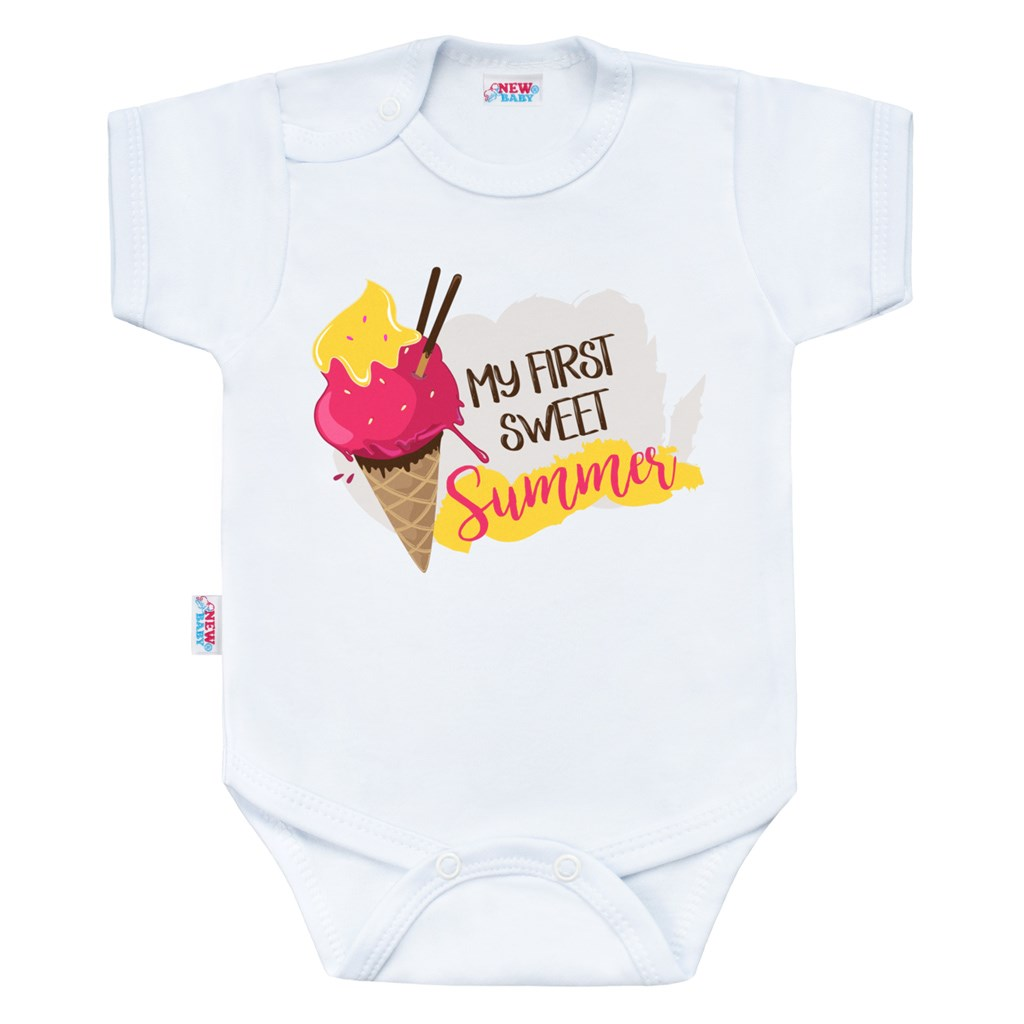 Body s potiskem New Baby MY FIRST SWEET Summer