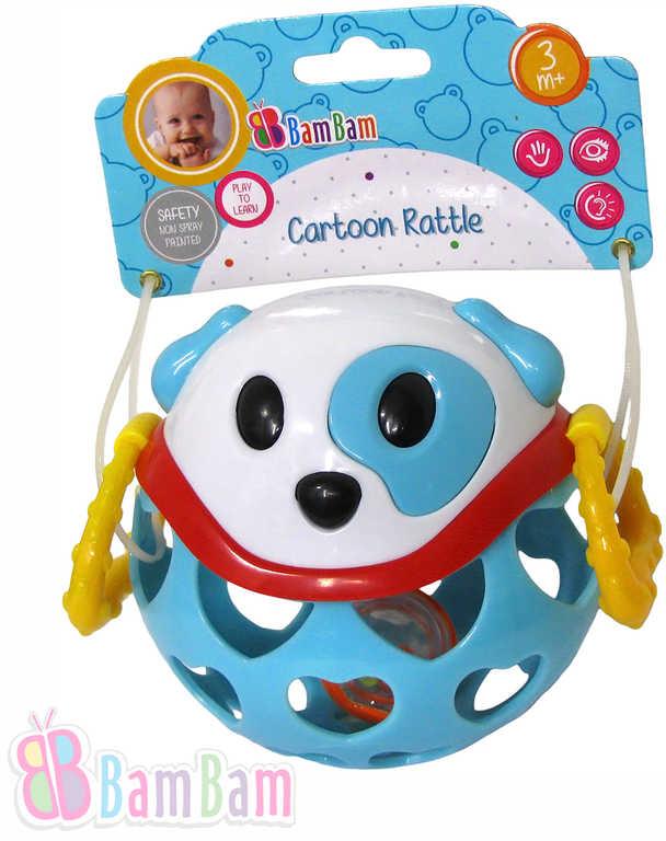 ET BAM BAM Baby Pejsek 12cm chrastítko koule pro miminko