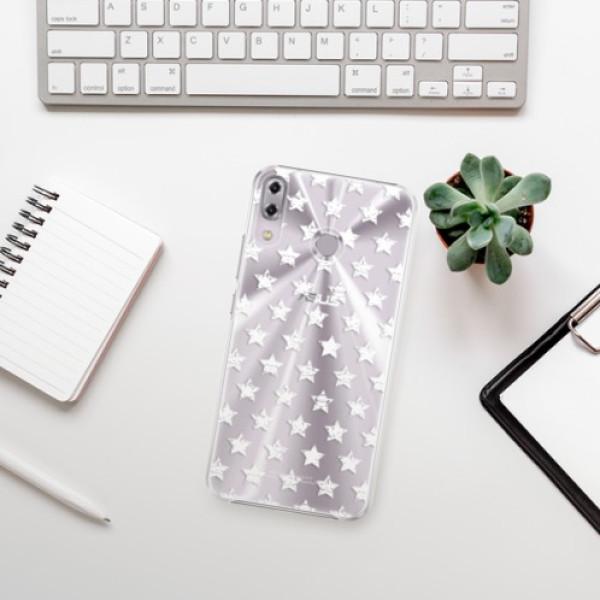 Plastové pouzdro iSaprio - Stars Pattern - white - Asus ZenFone 5Z ZS620KL